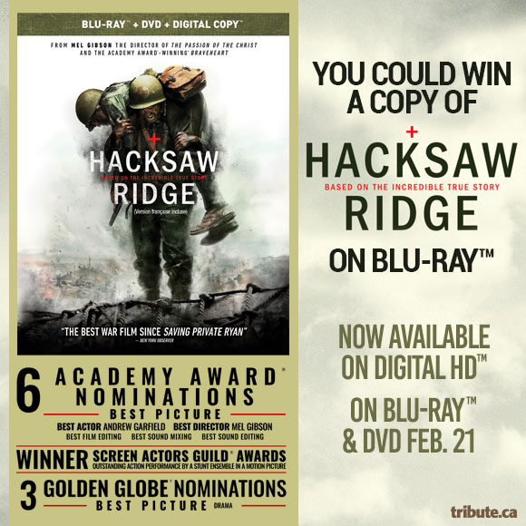 Hacksaw Ridge Blu-ray Pack Contest