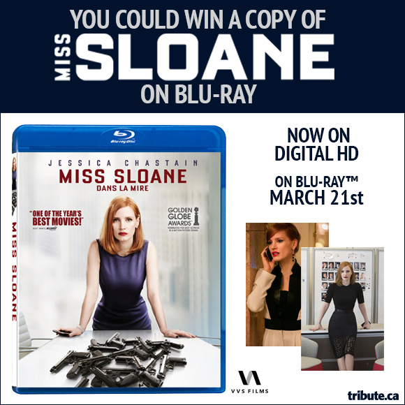 Miss Sloane Blu-ray contest