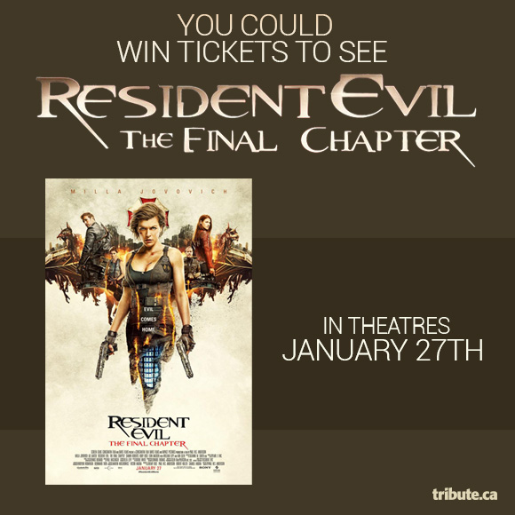Resident Evil: The Final Chapter Tickets contest