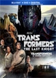 Transformers: The Last Knight on DVD cover