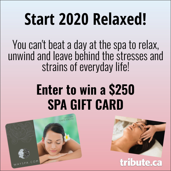 Enter to WIN a $250 SPA GIFT CARD