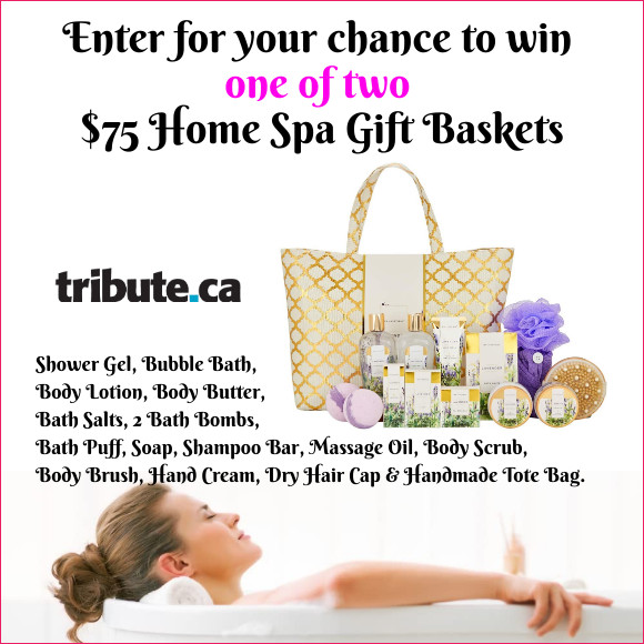 Enter for your chance to win a $75 Home Spa Gift Basket