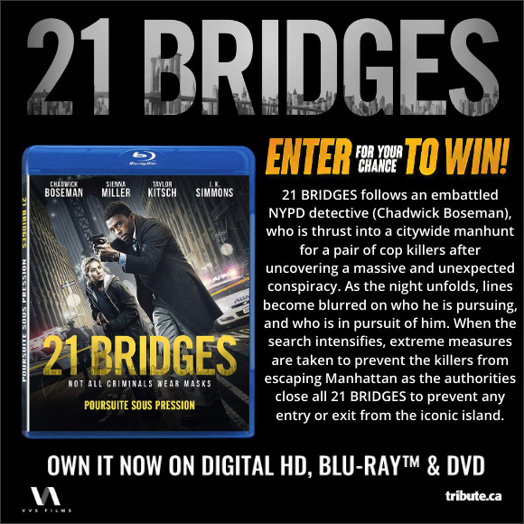 21 BRIDGES Blu-ray contest