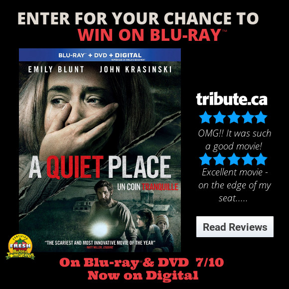 A Quiet Place Blu-ray contest