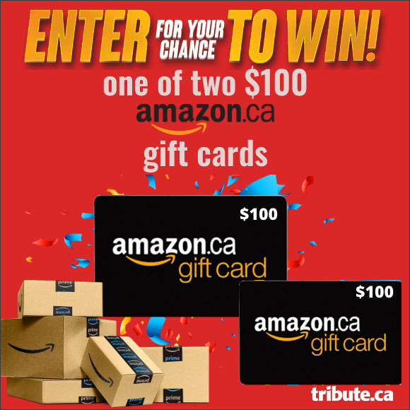 Enter for your chance to win one of two $100 AMAZON.CA Gift Cards