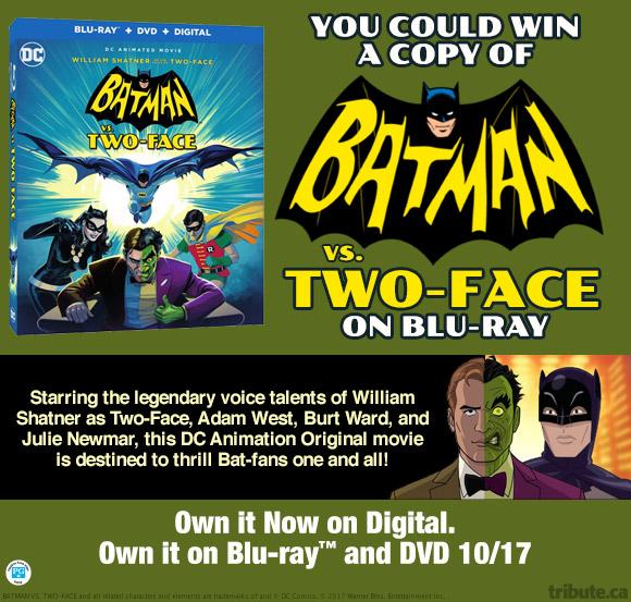 Batman vs Two-Face Blu-ray contest