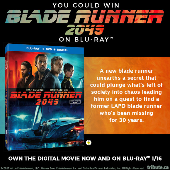 Blade Runner 2049 Blu-ray & DVD contest