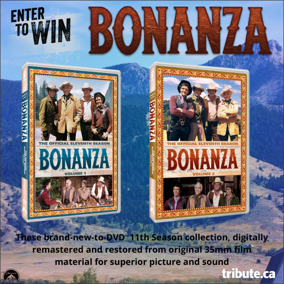 Enter for your chance to win Bonanza: The Official Eleventh Season Vol 1 & 2 on DVD