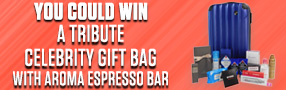 Tribute Celebrity Gift Bag with Aroma Espresso contest
