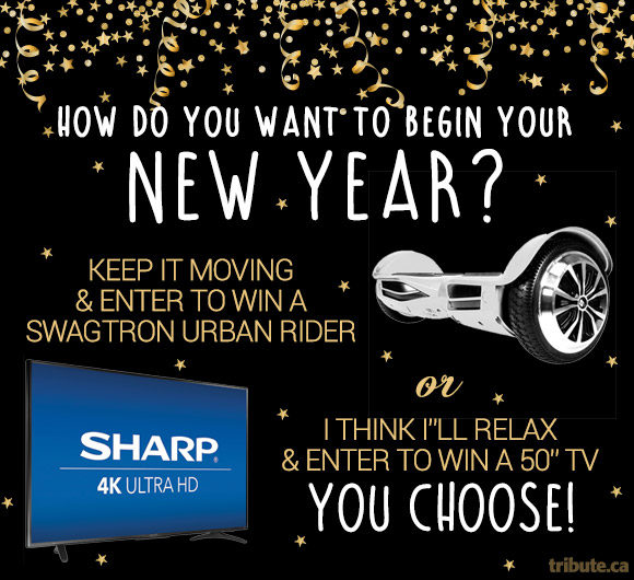 Choose your New Years Prize Contest for an URBAN RIDER or 50 INCH TV