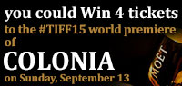 Celebrate with Moet & Chandon and win 4 tickets to the world premiere premium screening of Colonia