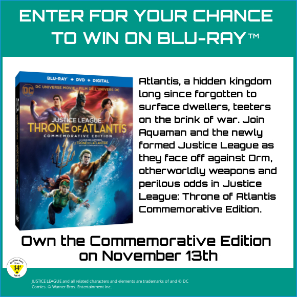 DCU JUSTICE LEAGUE THRONE OF ATLANTIS Blu-ray contest