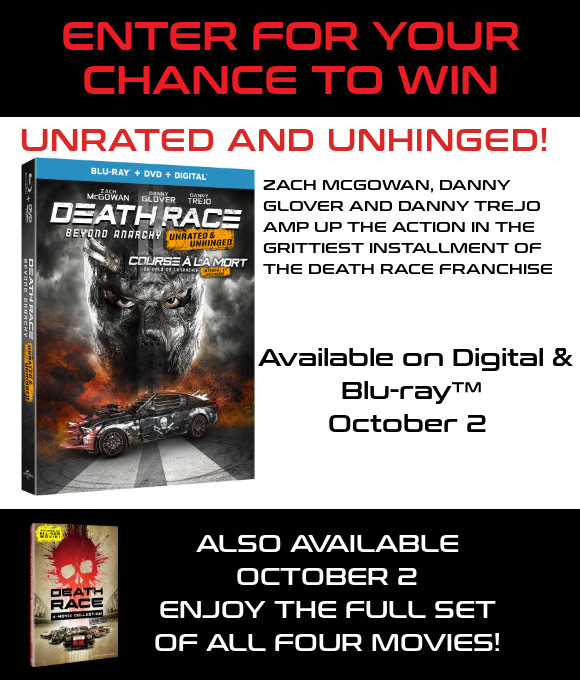 DEATH RACE BEYOND ANARCHY Blu-ray contest