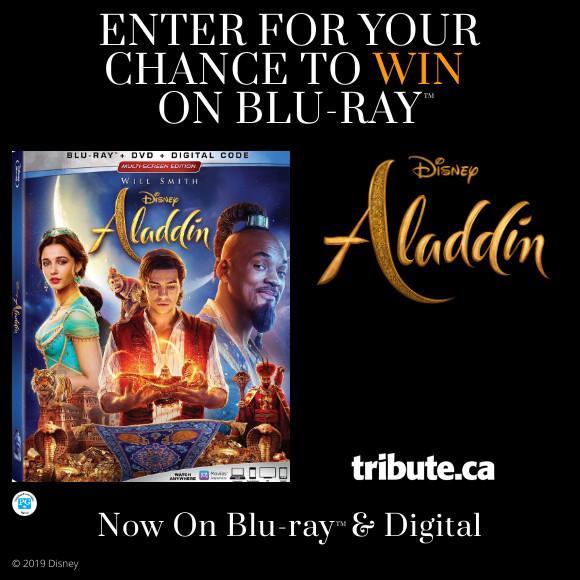 DISNEY'S ALADDIN Blu-ray contest