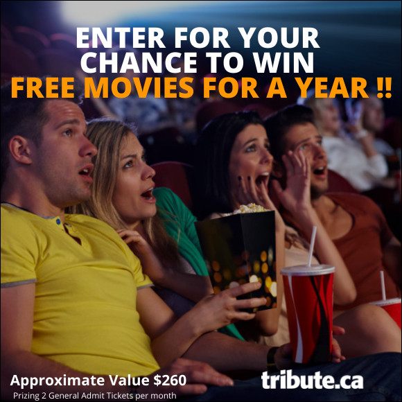 FREE MOVIES FOR A YEAR Contest | Contests and Promotions | Tribute.ca
