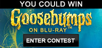 Enter to win either one grand prize of Goosebumps Blu-ray Combo Pack and Signed Books By Jack Black and R. L. Stine or one of two Goosebumps Blu-ray Pack