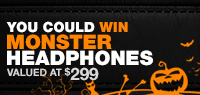 Enter to win a set of Halloween Monster Headphones valued at $299