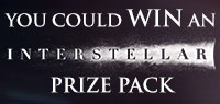 Enter for a chance to win an Interstellar Prize Pack including zip up jacket, T-shirt, cap & more.