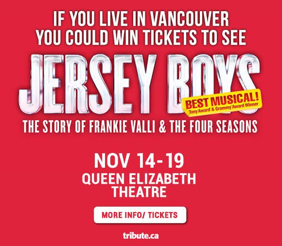 Jersey Boys Live Theatre Vancouver Premiere contest