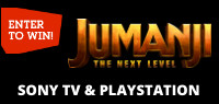 JUMANJI: THE NEXT LEVEL Sony TV & Playstation 4 Contest