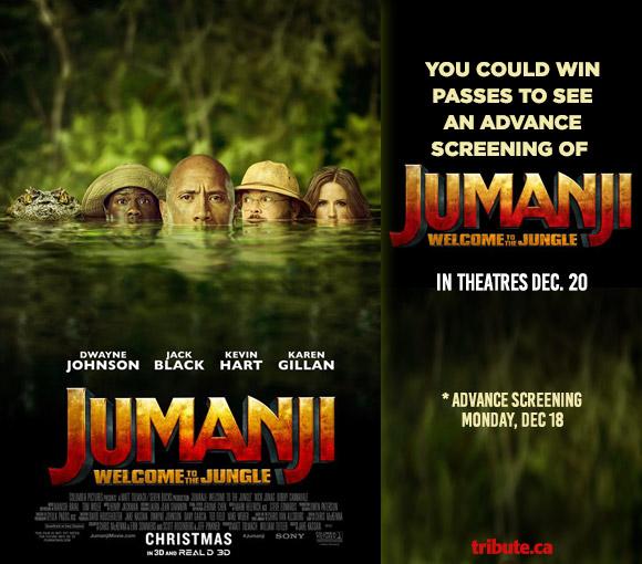 Jumanji Welcome To The Jungle Advance Screening contest