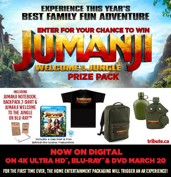 Jumanji Welcome To The Jungle Blu-ray contest