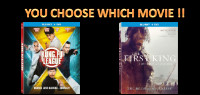 "Enter for a chance to win your choice of Blu-ray movie ""KUNG FU LEAGUE"" or ""THE FIRST KING"""