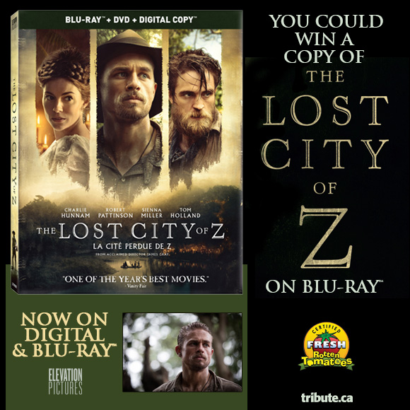 Lost City Of Z Blu-ray contest
