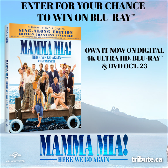 MAMMA MIA! HERE WE GO AGAIN Blu-ray contest