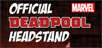 Enter for your chance to win an official Marvel DEADPOOL headstand from Numskull Designs