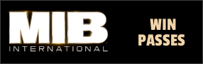 """Enter for your chance to win passes to an advance screening of """"MEN IN BLACK INTERNATIONAL"""" . In theatres June 14 Banner"""