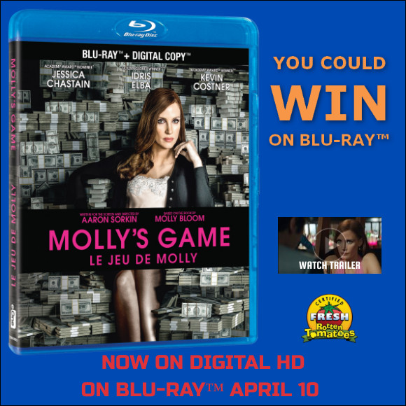 Molly's Game Blu-ray contest