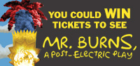 Enter to win tickets to see Mr. Burns, a Post-Electric Play in Toronto
