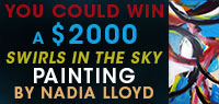 You Could Win a $2000 Swirls in the Sky Painting by Nadia Lloyd