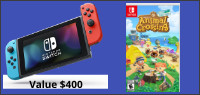 NINTENDO SWITCH & ANIMAL CROSSING: NEW HORIZONS GAME Contest