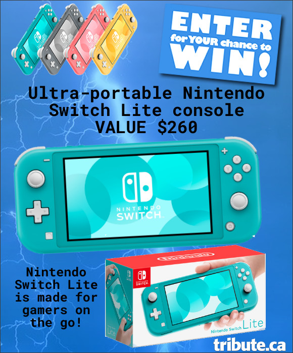 Enter for your chance to win a NINTENDO SWITCH LITE Handheld Portable Game. Value $260