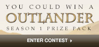 Enter to win an Outlander Prize Pack including  Blu-Ray Season 1, V1 , Blu-ray Season 1, V2,  Colouring Book and a Companion Book