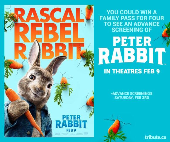Peter Rabbit Advance Screenings Pass contest