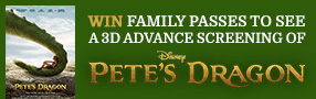 Win 3D Advance Screening Family Passes to see Pete's Dragon Poster