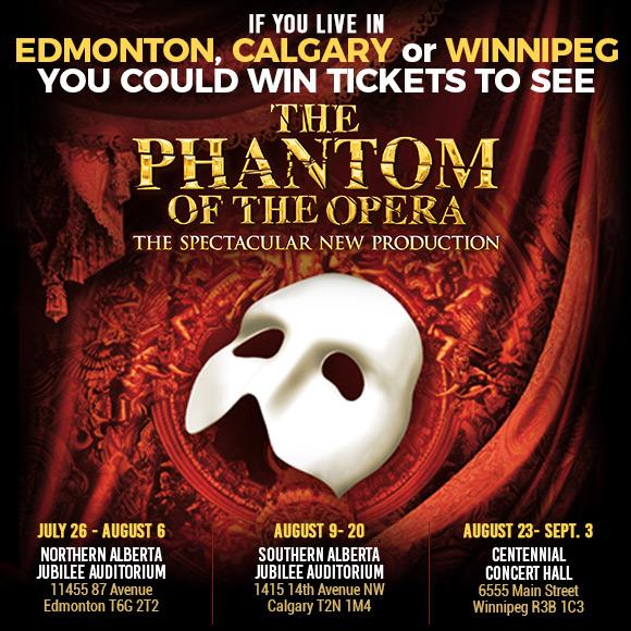 Phantom Of The Opera Live Theatre Contest