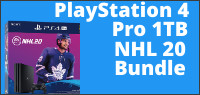 Enter for your chance to win a PlayStation 4 Pro 1TB NHL 20 Bundle Value $499.
