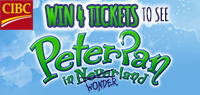 Win 4 tickets to see Ross Petty's Peter Pan in Wonderland