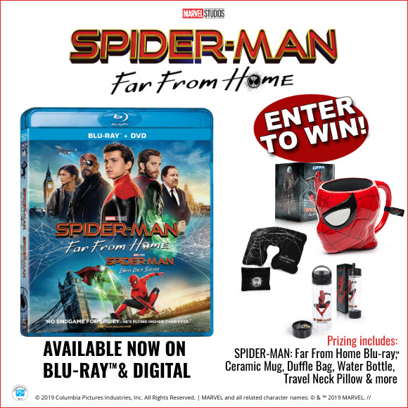 Spider-Man: Far From Home Blu-ray & Prize Pack
