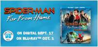 "Enter for your chance to win a 55"" SONY LED TV and ""SPIDER-MAN: FAR FROM HOME"" on Blu-ray. Now On Digital, On Blu-ray Oct. 1. Total Prize Value $1300"