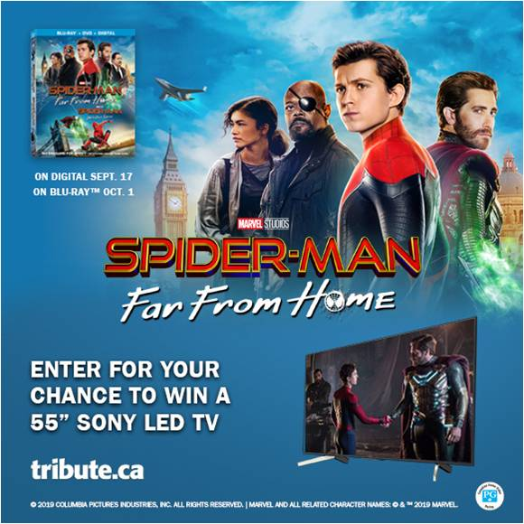 Spider-Man: Far From Home Blu-ray & Sony TV