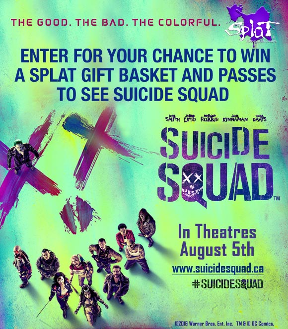 Win a Splat Gift Pack & Suicide Squad Movie Passes