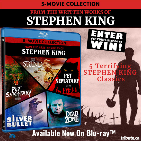 Enter for your chance to win Stephen King 5-Movie Blu-ray Collection