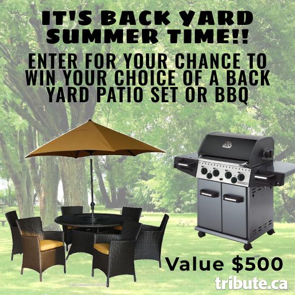 Summer Backyard Patio set or BBQ