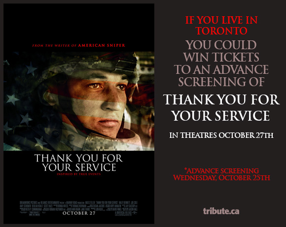 Thank You For Your Service Advance Screening Pass contest