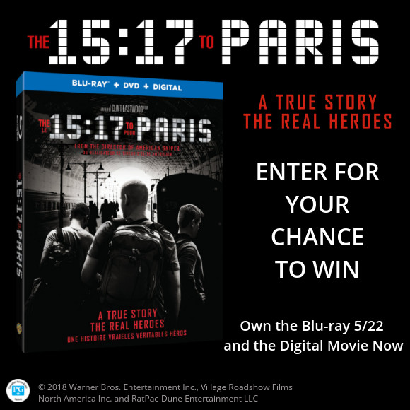 The 15:17 To Paris Blu-ray contest